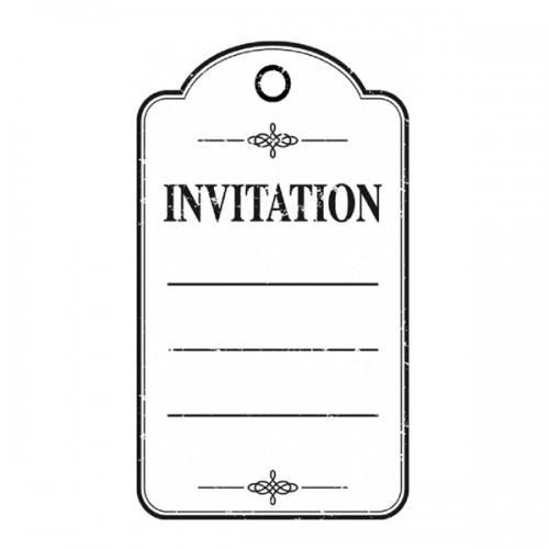 Wooden stamp - Invitation