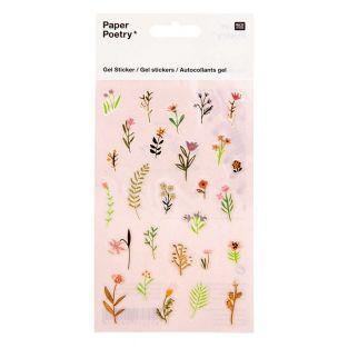 Gel-Aufkleber - Blumen