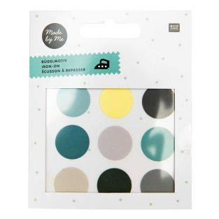 9 Iron-on badges - Circles - Green