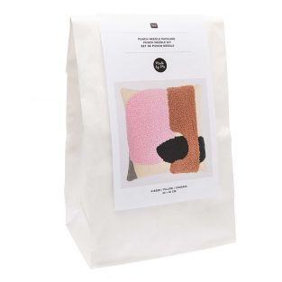 Punch needle kit - Pink cushion