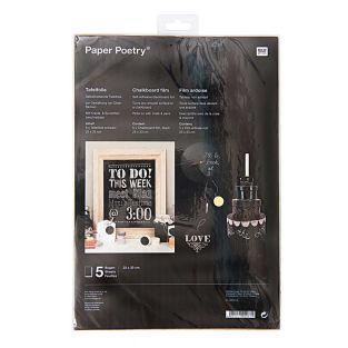 5 Black slate sheets - 33 x 23 cm