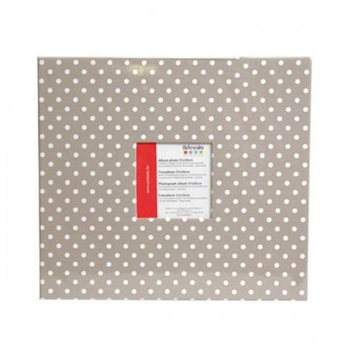 Photo album 30 x 30 cm - Gray with white dots