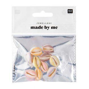 10 Perlen - Pastell-Muscheln - 2...