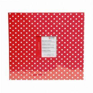 Fotoalbum 30 x 30 cm - rot mit weißen...