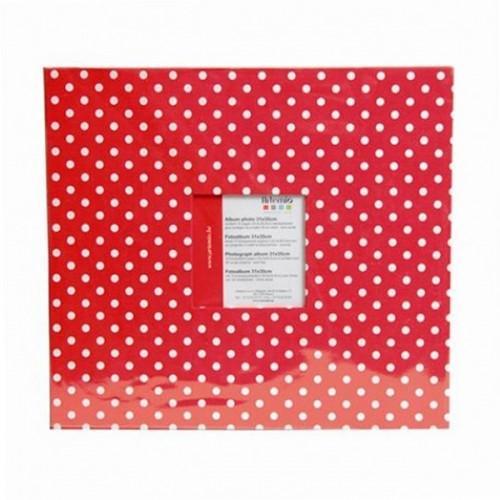 Album photo 30 x 30 cm - Rouge à pois blancs