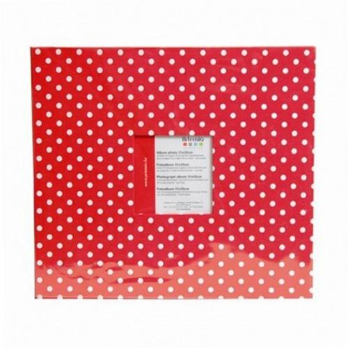 Photo album 30 x 30 cm - Red with white dots