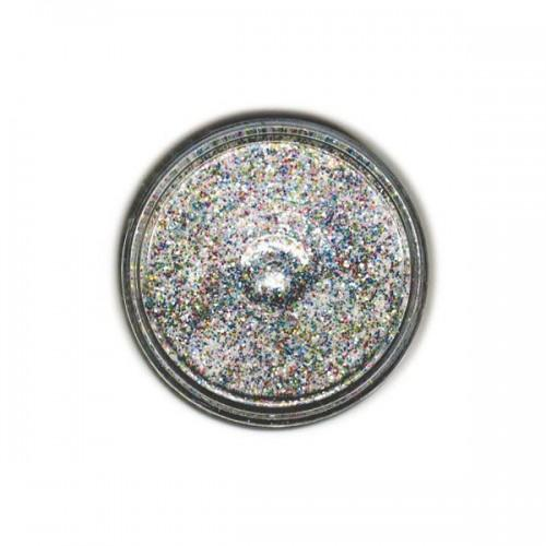 Clear embossing powder with multicolored sequins