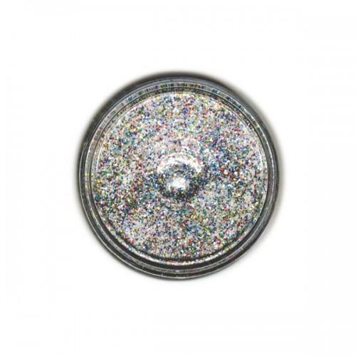 Poudre à embosser transparente à paillettes multicolores