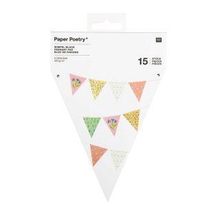 Guirnalda 15 banderines - Flores