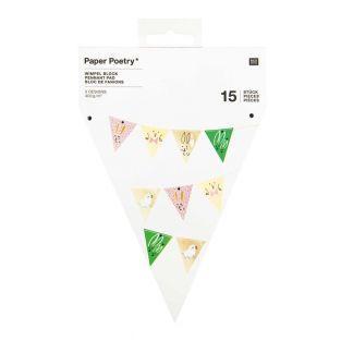 Guirnalda de 15 banderines - Pascua