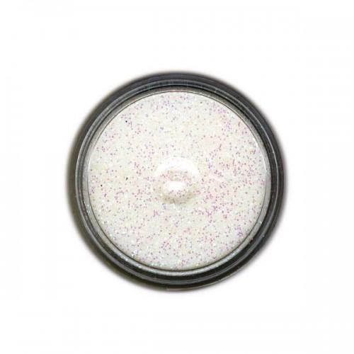 Poudre à embosser transparente à paillettes blanches