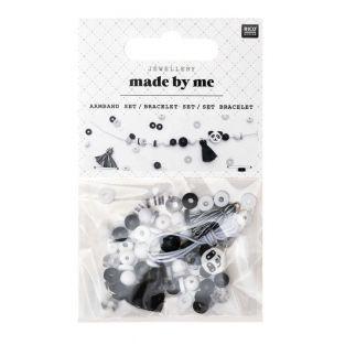 Kit de joyas - Pulsera blanca y negra