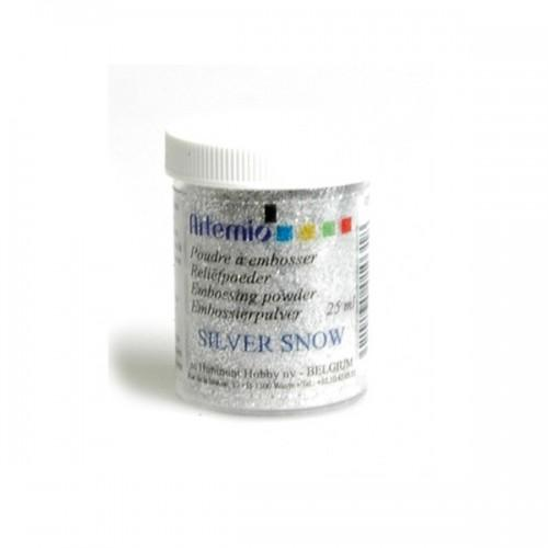 Clear embossing powder with silver glitter