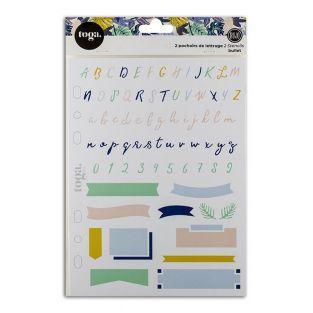 Schablonen für Bullet Journal - Alphabet