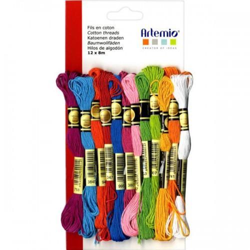 12 hilos de algodón multicolor x 8 m - Summer