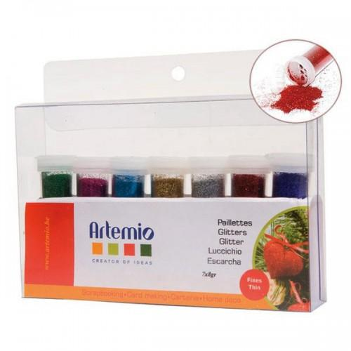 Kit 7 extra-fine glitter powders x 8 g