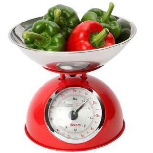 Weinlese-Küchenwaage 5 kg - Rot