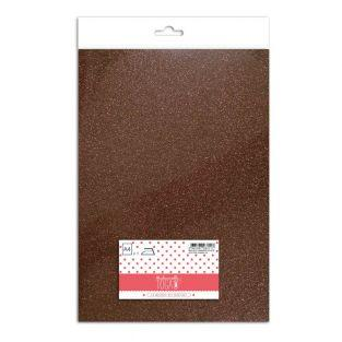 Iron-on glitter flex - Marron glacé -...