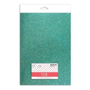 Iron-on glitter flex - Jade green -...