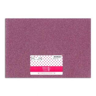 Iron-on glitter flex - Pink - 30 x 21 cm