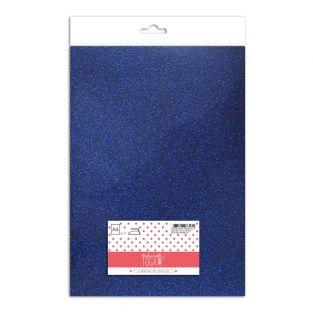 Iron-on glitter flex - Royal blue -...