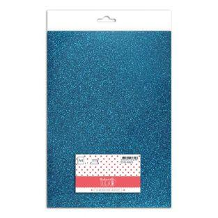 Iron-on glitter flex - Bright blue -...