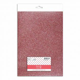 Ferro su glitter flex - rosa perlato...