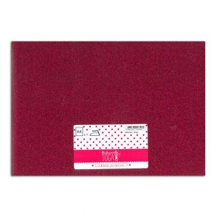 Iron-on glitter flex - Red - 30 x 21 cm