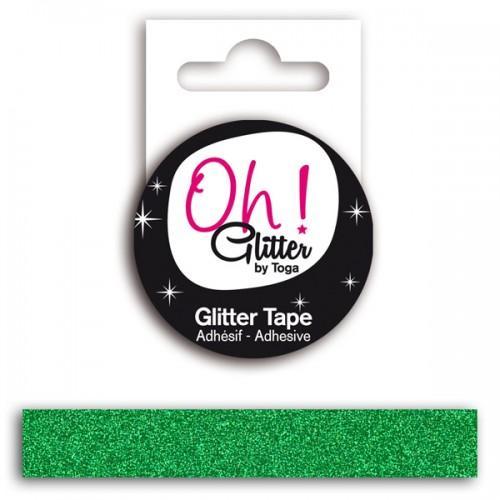 Masking Tape vert sapin à paillettes