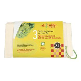 Juego de 3 bolsas reutilizables - XL