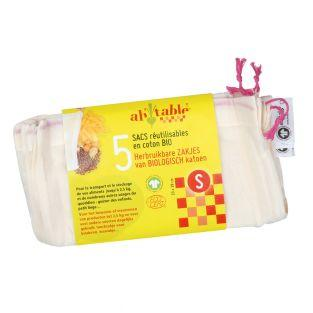 Lot de 5 sacs réutilisables - S
