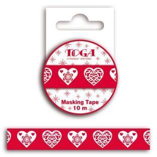 Cinta adhesiva Corazón rojo...