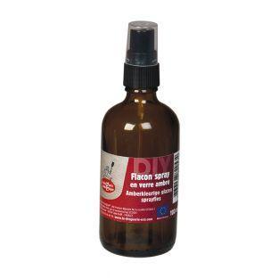 Bottiglia spray - Vetro ambrato - 100 ml