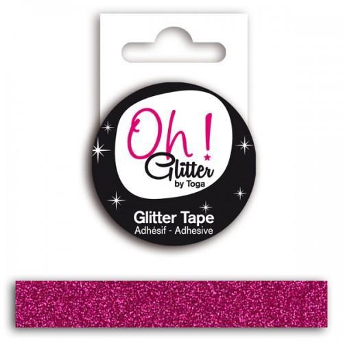 Glitter tape - framboise