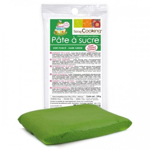 Pasta de azúcar verde oscuro - 100 g