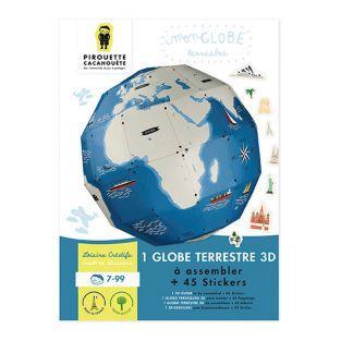 Kit Globe terrestre à monter Ø 27 cm