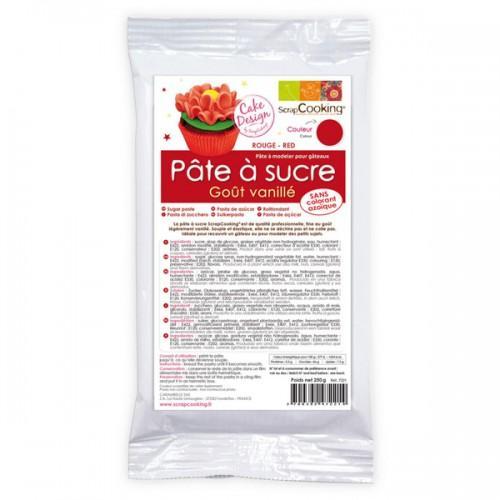 Red sugarpaste