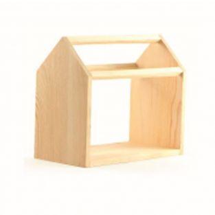 Holzhaus für Pflanzen - 20 x 17 x 10 cm
