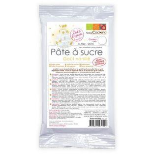 Pâte à sucre blanche arôme vanille -...