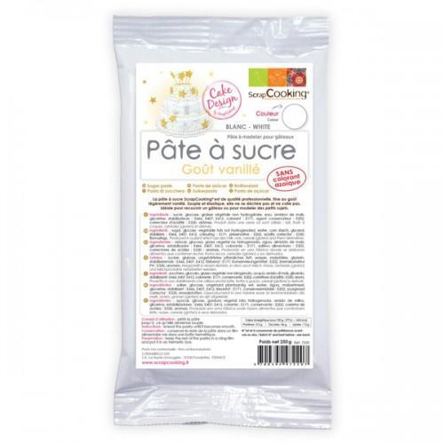 Pâte à sucre blanche arôme vanille - 250 g