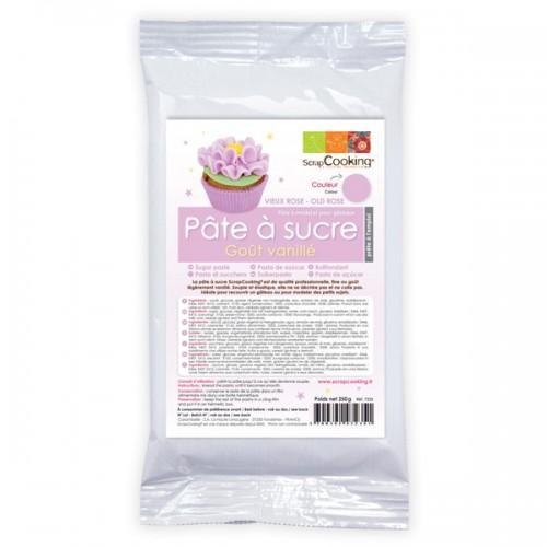 Pâte à sucre violette arôme vanille - 250 g
