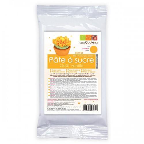 Pâte à sucre orange arôme vanille - 250 g