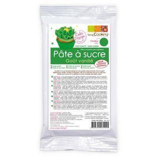 Pasta de azúcar verde - sabor vainilla