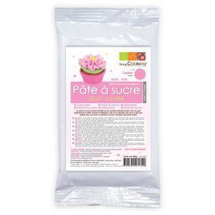 Pâte à sucre rose arôme vanille - 250 g