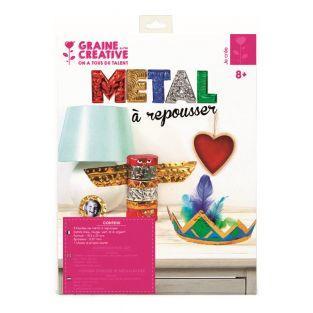 5 Metallprägeblätter - 5 Farben