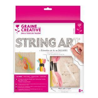 Coffret cadre en bois - String Art -...
