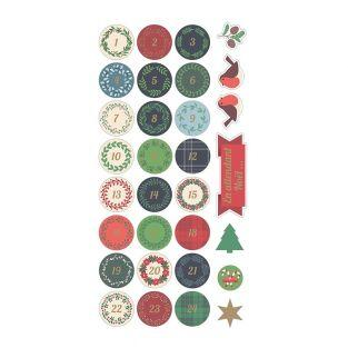 Stickers Puffies 3D XL Calendar Merry...