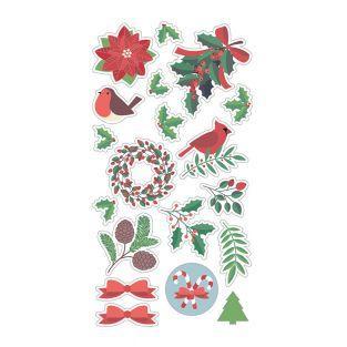Pegatinas Puffies 3D Feliz Navidad