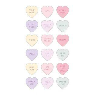 Stickers Puffies 3D hearts Once upon...