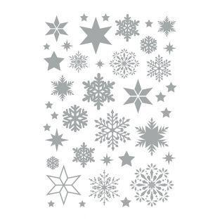 Hoja de calcomanías copos de nieve...